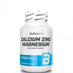Calcium Zinc Magnesium,100 tab.,BiotechUSA