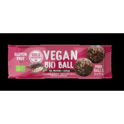 Bile vegane bio mini - Proteină din mazăre și cacao 2x17gr