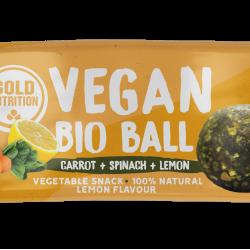Bile vegane bio mini– Morcov, spanac și lămâie 2x17gr